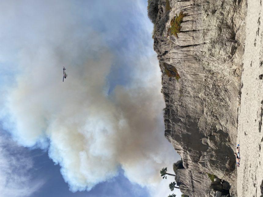 avila fire smoke helicopter